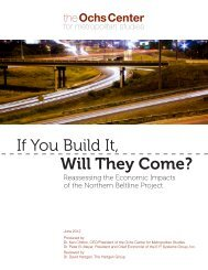If You Build It, Will They Come? - Ochs Center for Metropolitan Studies