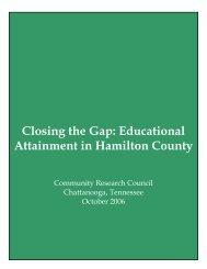 Closing the Gap - Ochs Center for Metropolitan Studies