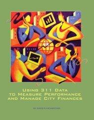Using 311 Data - Ochs Center for Metropolitan Studies