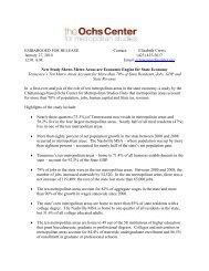 Metropolitan Tennessee - Ochs Center for Metropolitan Studies