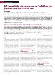Udržovací léčba rituximabem u ne-Hodgkinových lymfomů - Onkologie