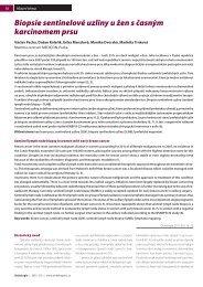 Biopsie sentinelové uzliny u žen s časným karcinomem ... - Onkologie