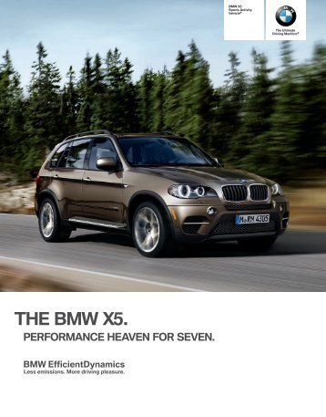 charisma: in the bmw x, it comes naturally.