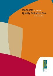 Standards for Providing Quality Palliative Care for all Australians