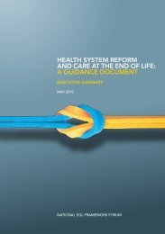 HealtH SyStem RefoRm and CaRe at tHe end of life: a GuidanCe ...
