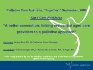 """A better connection: linking residential aged care providers to a ..."