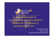 A regional approach to delivering specialist palliative care nurse ...