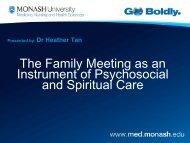 The family meeting - Palliative Care Australia