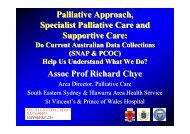 Palliative Approach, Specialist Palliative Care and Supportive Care ...