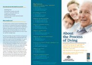 About the process of dying - Palliative Care Australia