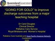 GOING FOR GOLD - Palliative Care Australia