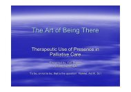 The Art of Being There - Palliative Care Australia