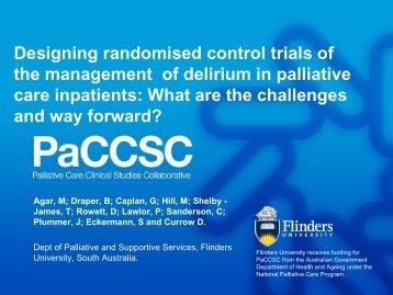 Designing randomised control trials of the management of delirium ...