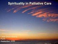Spirituality in Palliative Care - Palliative Care Australia