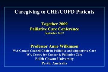 Caregiving to advanced chronic illness patients - Palliative Care ...