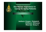 Experience in Caring for Dying Patients - Palliative Care Australia
