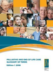 PALLIATIVE And End OF LIFE CARE GLOSSARY OF TERMS ...