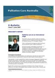 PCA e-bulletin June 2007 - Palliative Care Australia