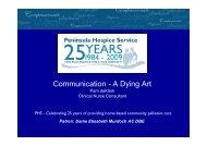 Good team communication: A dying art - Palliative Care Australia