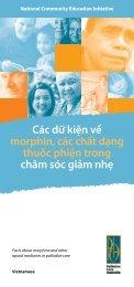 Các dữ kiện về morphin, các chất dạng thuốc phiện trong chăm sóc ...