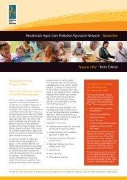RACPAN newsletter - August 2007 - Palliative Care Australia