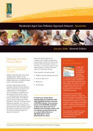 RACPAN newsletter - Palliative Care Australia