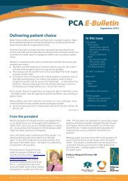 PCA e-bulletin - September 2010 - Palliative Care Australia