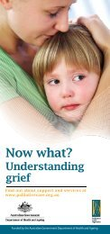 Now What? Understanding Grief (Brochure) - Palliative Care Australia