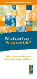 What can I say – What can I do? - Palliative Care Australia