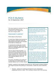 PCA e-bulletin September 2007 - Palliative Care Australia