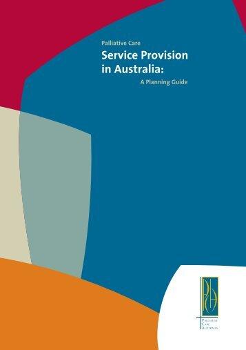 Palliative Care Service Provision in Australia: A Planning Guide