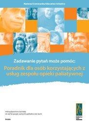 Poradnik dla osób korzystających z usług zespołu opieki paliatywnej