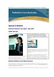 Special E-Bulletin - Palliative Care Australia
