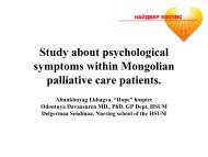 support for psychological symptoms in Mongolia - Palliative Care ...