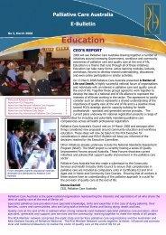 PCA e-bulletin March 2008 - Palliative Care Australia