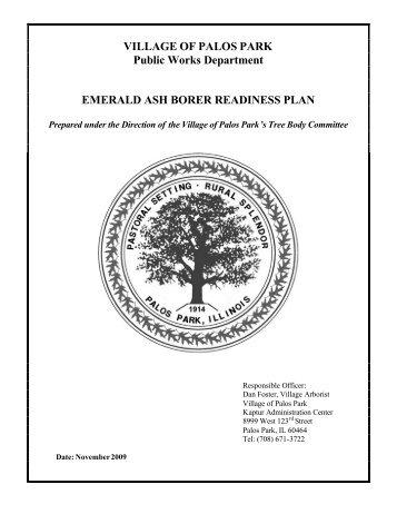 Download Emerald Ash Borer Policy Information - Village of Palos ...