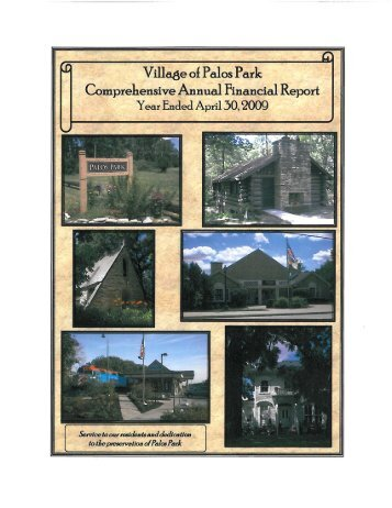 FY 2009 CAFR - Village of Palos Park, Illinois
