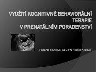 Využití kognitivně behaviorální terapie v prenatálním poradenství