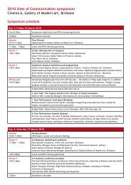 2010 Sites of Communication symposium - Queensland Art Gallery