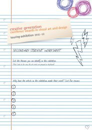 SECONDARY STUDENT WORKSHEET - Queensland Art Gallery