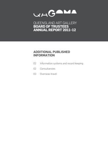 Queensland art Gallery Board of TrusTees annual reporT 2011–12