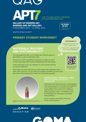 primary STUDENT WOrKSHEET maTErialS, bUilDiNG aND ...