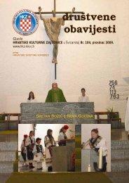 DO broj 104 - Hrvatska Kulturna Zajednica u Švicarskoj.