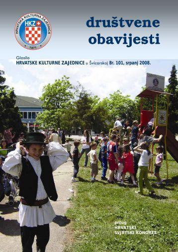 društvene obavijesti - Hrvatska Kulturna Zajednica u Švicarskoj.