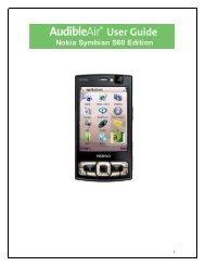 Windows Mobile Pocket PC - Audible com