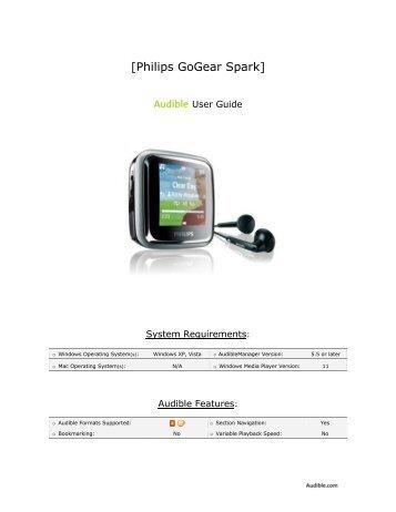 [Philips GoGear Spark] - Audible.com