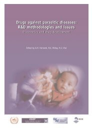 Drugs against parasitic diseases: R&D methodologies and issues ...