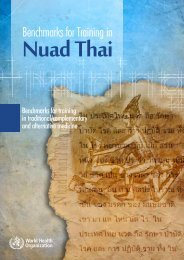 benchmarks for training in Nuad Thai - libdoc.who.int - World Health ...