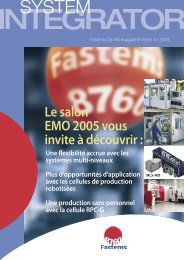 BIENVENUE AU SALON EMO 2005 - Fastems