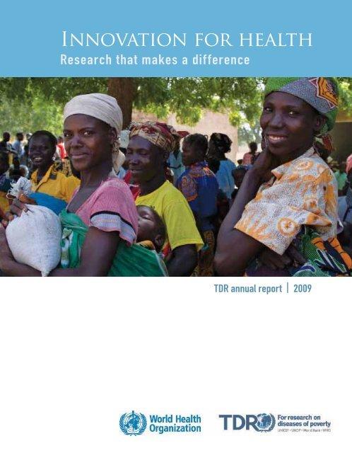 TDR-Annual report 2009_OK.indd - libdoc.who.int - World Health ...